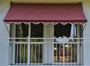 klemm markise balkon montage das beste aus wohndesign With markise balkon mit tapete lederoptik braun