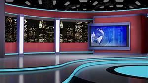 News TV Studio Set 64