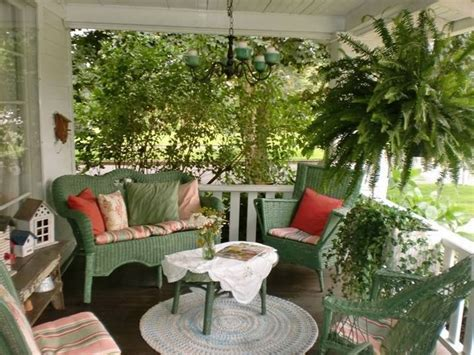 pretty front porch summer home country decorate porch