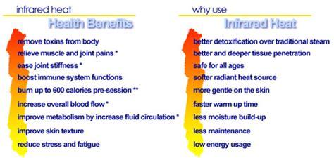 infrared heat l benefits infrared sauna detox