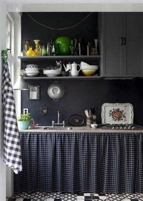 rideau placard cuisine inspiration noir and cuisines sombres on