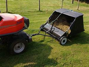 38 U0026quot  Lawn Sweeper Ride On Mower Tractor Leaf Collector