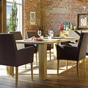 table de salle a manger moderne en bois massif nevada With salle À manger contemporaineavec salle a manger en bois moderne