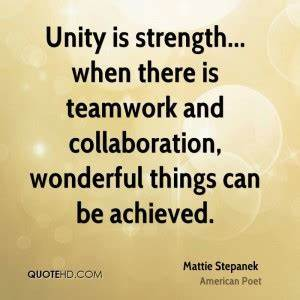 Quotes On Teamw... Strength And Teamwork Quotes