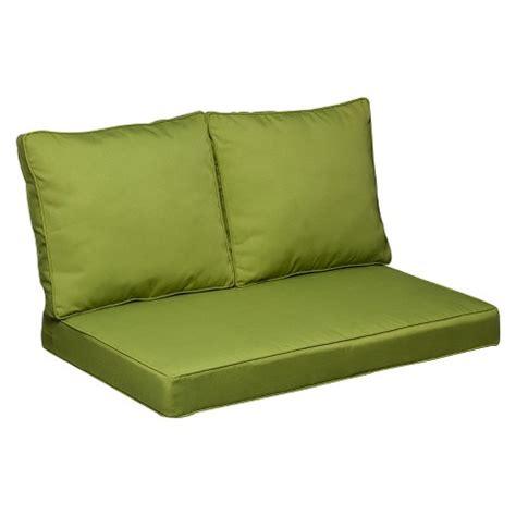 target patio cushions belmont 3 brown wicker loveseat replacemen target