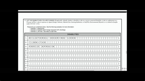 va benefits claim form substantially completed va form 21 526ez youtube