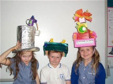 hats   recycled materials  challenge