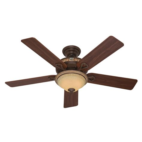 hunter ceiling fans with lights clearance shop hunter aventine 52 in cocoa downrod or flush mount