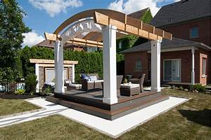 Arched Retractable Awning, HGTV's Decked Out