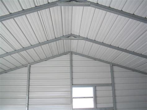 steel garage interior  metal garage