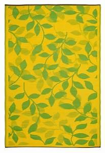 Garten im quadrat outdoor teppich bali grun gelb for Balkon teppich mit tapete grün blätter
