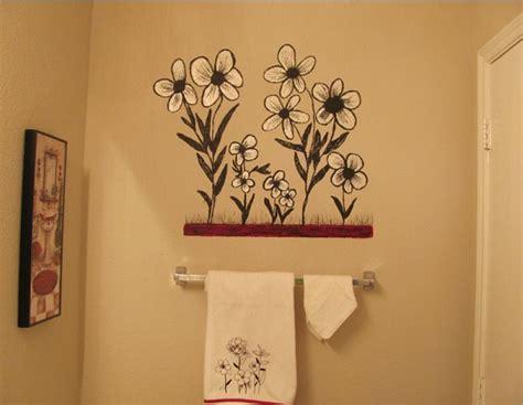 ideas for painting bathroom walls creative painting bathroom wall home interiors