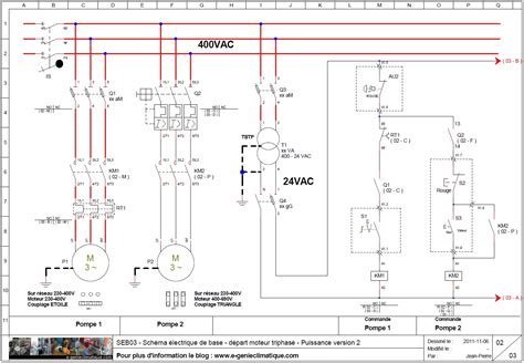 chambre froide pdf seb03 schéma électrique de base départ moteur triphasé