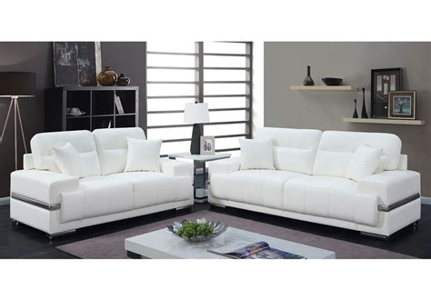 Modern White Loveseat by Modern White Leather Sofa Home Exquisite Modern White