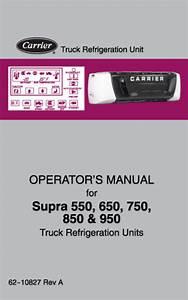 Carrier Supra 650 Operator S Manual