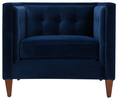 tuxedo arm chair navy blue transitional