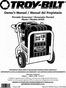 Troybilt 01925 User Manual Generator Manuals And Guides
