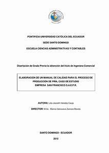 Manual De Calidad Para El Proceso De Producci U00f3n De Pi U00f1a