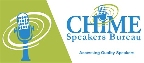 the speaker bureau chime speakers bureau healthcare it chime
