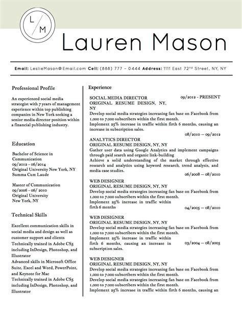 job winning resume templates  microsoft word apple pages