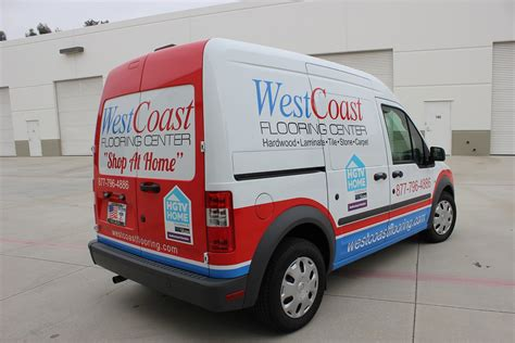 West Coast Flooring San Marcos by Vehicle Graphics On Ford Transit Connect For Quot Shop At Home