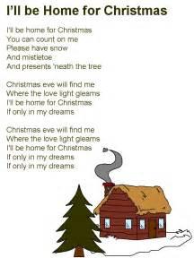 Song Lyrics I'll Be Home for Christmas