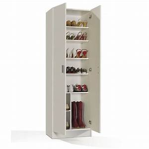 multiusos armoire a chaussures blanc achat vente With meuble chaussure grande capacite 14 rangement chaussures a roulettes