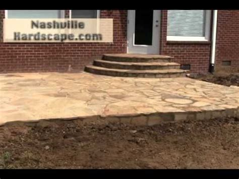 brentwood flagstone patio new in backyard replace wood