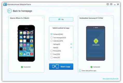 how to transfer contacts from iphone to android mobile