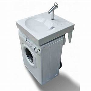 Lave Linge Petit Format : lavabo gain de place sur machine laver ~ Nature-et-papiers.com Idées de Décoration