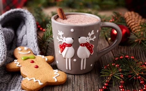Close up of homemade ginger cookies, cinnamon, ginger on a wooden table. Merry Christmas, decoration, cookies, cup, coffee HD Wallpapers | Christmas | Desktop Wallpaper ...
