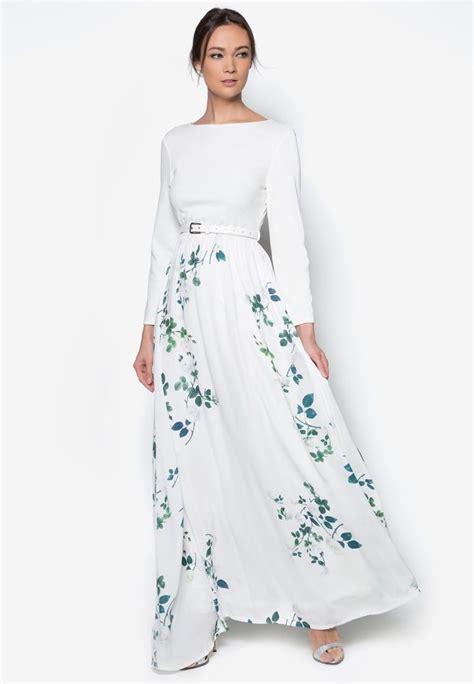 buy zalia rose vine maxi dress  zalora malaysia
