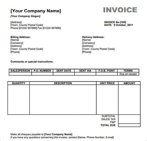billing invoice template   invoice
