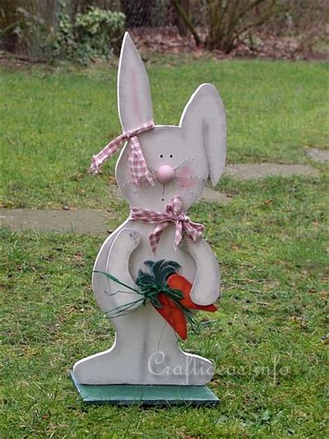 spring  easter wood craft large wooden bunny