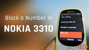 How To Block Number In Nokia 3310 Keypad Mobile  2019