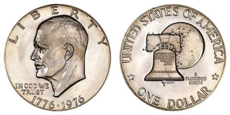 specifications eisenhower silver dollars 1976 eisenhower bicentennial dollar 40 silver type 2 no quot s quot unique coin value prices