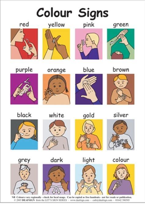 color sign language colours teaching ideas