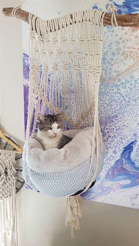 Crochet Cat Hammock by Macrame Cat Hammock Home Cat Hammock Diy Cat Bed Diy