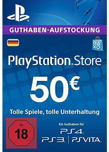 de  eur playstation network prepaid card karte psn ps