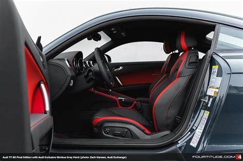 audi tt rs mk black  red interior sports cars