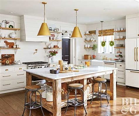 country style kitchen island country kitchen ideas better homes gardens 6217