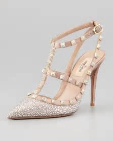 valentino wedding shoes 39 s rockstud crystallized tstrap slingback poudre valentino shoes valentino and