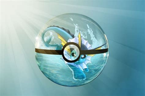 pokeball vaporeon by roebot01 deviantart on