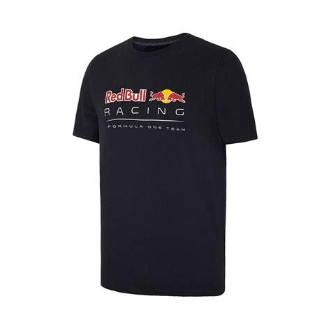 aston martin red bull racing  shirt front logo navy