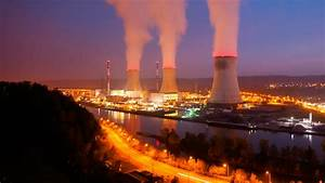 Time Lapse Sequence Of A Large Nuclear Power Station At