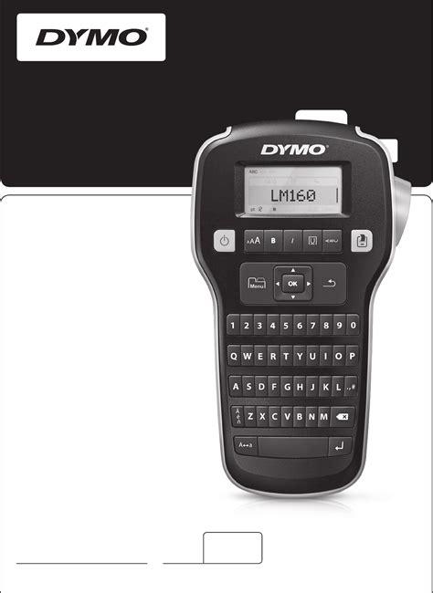 dymo label maker 160 manual