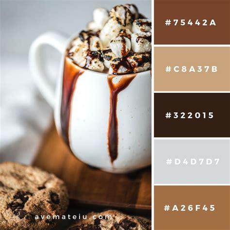 280 handpicked colors ready for copy & paste. Psychology : Chocolate Dessert Served on White Ceramic Mug Color Palette #65 | Seeds color ...