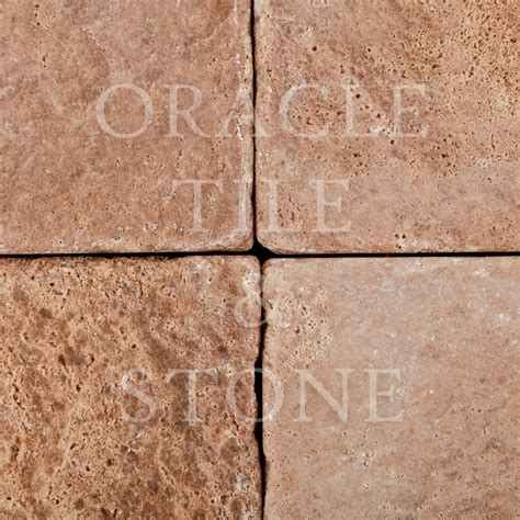 Oracle Tile And Stone by Andean Walnut Travertine 6 X 6 Field Tile Oracle Tile