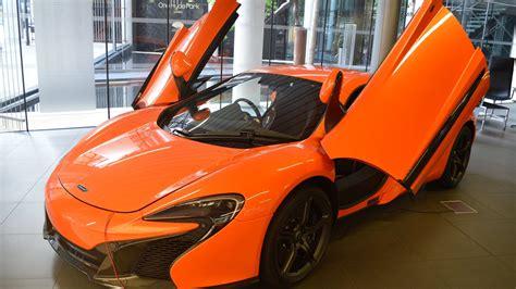 mclaren dealership mclaren 650s orange walkaround youtube