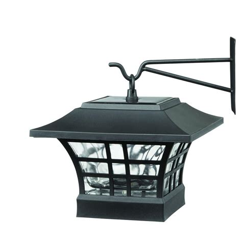 hton bay gx 4511 2pk solar black led deck post with